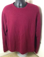 Member's Mark 100% Cashmere Burgundy Wine Red Maroon Sweater Soft Pullover - XL