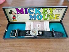 VINTAGE 1960-70's BRADLEY ELGIN 47 MICKEY MOUSE PIE EYED FATBOY WRISTWATCH MINT