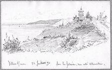 L. BERVILLE DESSIN ORGN 1891 VILLERS-SUR-MER Chalet Haret Exposition Universelle