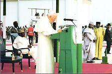 550- CARTE  VATICAN VISITE PAPE JEAN PAUL II  AU  NIGERIA