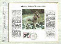FEUILLET CEF 1er JOUR MONACO EXPOSITION CANINE INTERNATIONALE 1975