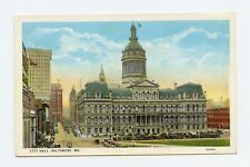 City Hall, Baltimore, MD Color Postcard