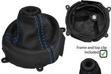 BLUE STITCH LEATHER SHIFT BOOT + PLASTIC FRAME FITS HONDA CIVIC SI 2006-2012