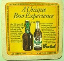 GROLSCH BEER imported COASTER, Mat, HOLLAND, NETHERLANDS