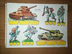 SOLDATINI DI CARTA - RECORTES BABY -  FOGLIO 28 x 20 - PAPER SOLDIERS (4)