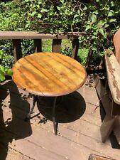 Handmade White Oak Whiskey Barrel Table