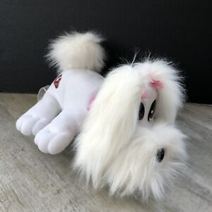Pound Puppies Happy Waggin Pups White Pink Electronic Dog Barks Wags Tail Tested