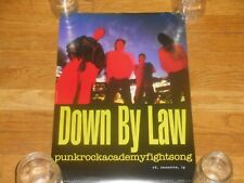 Down By Law punkrockacademyfightsong 13 x 19 double sided Promo Poster orig 1994