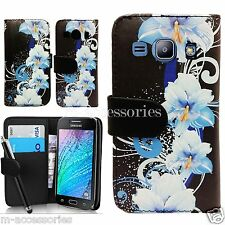FLORAL WALLET FLIP PU LEATHER CASE COVER POUCH FOR SAMSUNG GALAXY J1 SM-J100