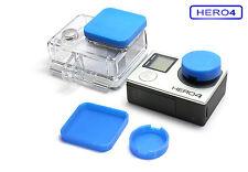 Linsen Schutz f. GoPro HERO 4 Zubehör Lens Cap Protector Abdeckung Kappe Blue