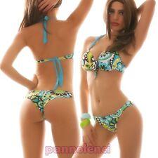 Bikini traje push up brasileño dos piezas multicolor moda de baño mujer B2309