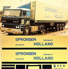 DAF Spronsen Monster Holland (NL) 1:87 Truck Decal LKW Abziehbild