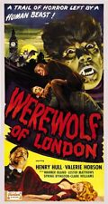 WEREWOLF OF LONDON, 1935 Vintage Horror Movie Repro Rolled CANVAS PRINT 17x28 in