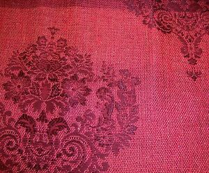 """55"""" wide Magenta Damask Metallic Sparkle upholstery Drapery Fabric by the yard"""