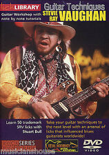 LICK LIBRARY STEVIE RAY VAUGHAN TECHNIQUES Learn to Play Blues Riffs GUITAR DVD