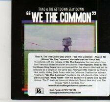 (DI706) Thao & The Get Down Stay Down, We The Common - 2013 DJ CD