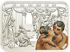 Rare 2011 Palau Large Proof Color Silver $5 Carmen-Bizet-Box-mintage 1000
