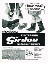 PUBLICITE ADVERTISING  1964   GIRDOU   pantoufles bottes