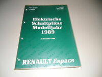 Manuale D'Officina Elettrica Renault Espace Stand 12/1989