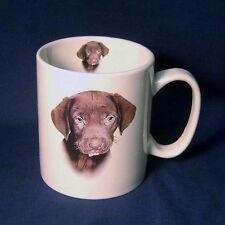 Carino Cioccolato Lab Labrador Cucciolo di Cane Grande Tazza di Caffè