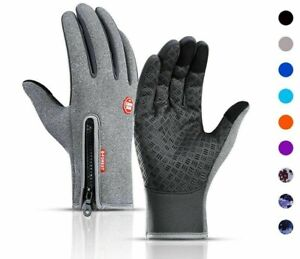 Cycling Gloves Full Finger Bicycle Warm Touchscreen Gloves Waterproof Outdoor