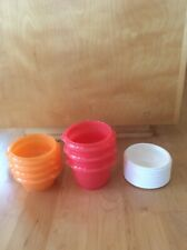 Lot of 7 Tupperware Nesting Containers with Lids New