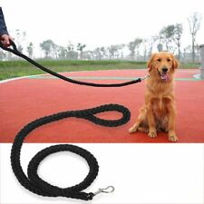 Retriever Outdoor Heavy Duty Pet Braided Rope Lead Leash Large Dog Labrador NT5Z