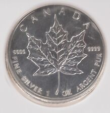 Canada NGC 2013 Silver $5 Maple Leaf Partial Collar & Finning MS61