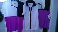 NWT Ladies EP PRO DAHLIA PURPLE NAVY 3 pc Golf Outfit Skort & 2 Shirts M 8 10