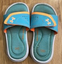 UNDER ARMOUR Sandals Baby Toddler Size 11K Orange And Green