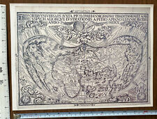 Historic Antique Old Vintage MAP 1500's 1520: The World: Heart shaped! Reprint