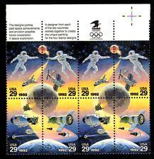 Space Accomplishments - Scott #2631-2634 Inscription Block of 8 stamps MNH