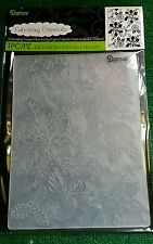 """DARICE EMBOSSING FOLDER-POINSETTIA HOLLY-BACKGROUND-CARDS-4.25"""" X 5.75""""-1219-423"""