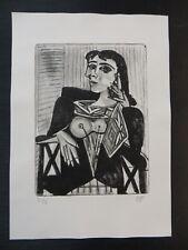 Original Radierung Lithographie Surrealismus Handsigniert nach Picasso