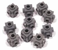 LEGO - 10 x Konverter - Stein 1x1 Noppen auf 4 Seiten dunkelgrau / 4733 NEUWARE