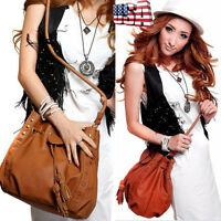 Ladies Shoulder Crossbody Handbag Tote Satchel Women Leather Messenger Hobo Bags