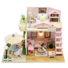 Handmade Wood Flash Loft DIY House Toy Miniature Dollhouse Birthday Gift PRO#