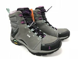 AHNU MONTARA DARK GRAY GREY HIKING SHOE Lace Up Boot Boots Shoes AF2506 Women's
