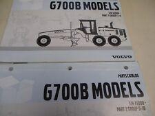 Volvo G700B Motor Grader Parts Catalog Manual s/n 35000-