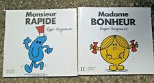2 Roger Hargreaves French Children's Books Madame Bonheur & Monsieur Rapide