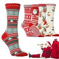 Christmas Novelty Socks Funny Santa Claus Warmer Stocking Hosiery Family