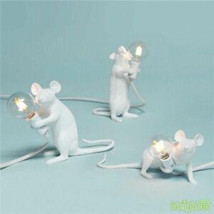 NEW Seletti Table Lamp Mouse Desk Light Bedside Resin Lamps Sitting White Lights