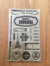Teresa Collins Designs Clear Acrylic Stamps (World Traveller)
