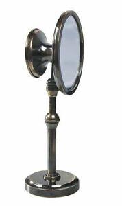 Instruments Miroir, Maritime Doppel Mirroir Sur Trépied En Vieux Laiton