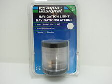 NIB AQUASIGNAL NAVIGATION LIGHT LAMP PEDESTAL MOUNT SERIES 25 BOAT SAIL (#1862)