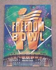 FREEDOM BOWL PROGRAM - 1987 - ARIZONA STATE vs AIR FORCE - MINT
