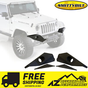 Smittybilt XRC M.O.D. Full Width End Plates - Black for 07-18 Jeep Wrangler JK