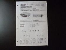 Original Service Manual Blaupunkt Autoradio Frankfurt Karlsruhe 7636642 7636641