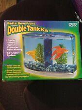 Penn Plax Betta Bow Front Dual Tank Kit Boxed. **Free Shipping**