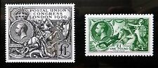 GB 1913 £1 Seahorse & 1929 £1 P.U.C. Royal Mail Official Reproductions NB1588